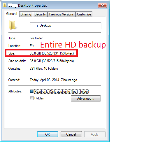 Entire Hard Drive Backup