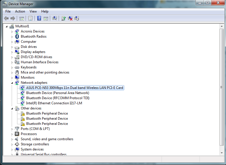 Asus PCE-N53 not recognized in new DELL Optiplex 9020 running Win 7
