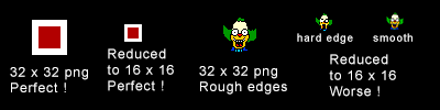 32 x 32 reduced to 16 x 16