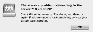 Error connecting to Server 2012 from Mac OS X 10.7.5