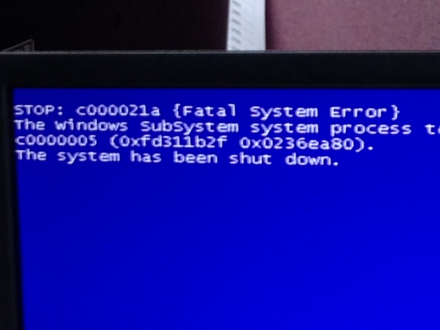 Error on Dell Machine