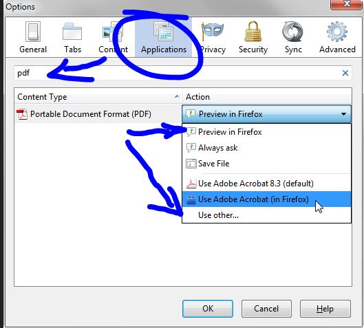 PDF in Mozilla