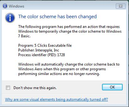 The color scheme.jpg was Windows 7's reaction to 5-Clicks - I don't know if this is relevant?