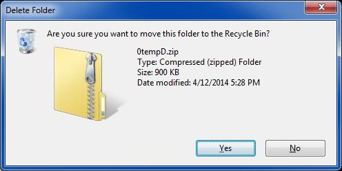 zip folder terminology