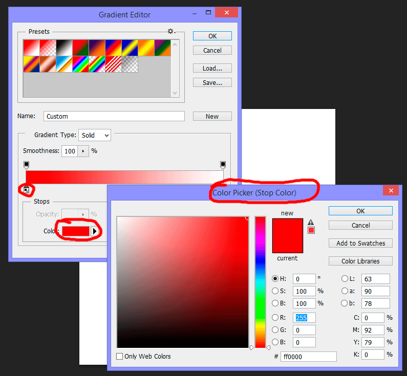 Gradient color picker