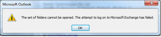 outlook 2010 error