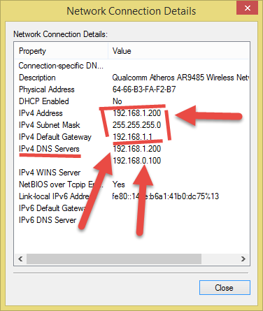 Status of Network Connection