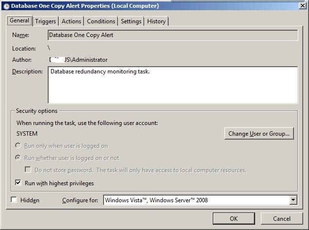 Database One Copy 1