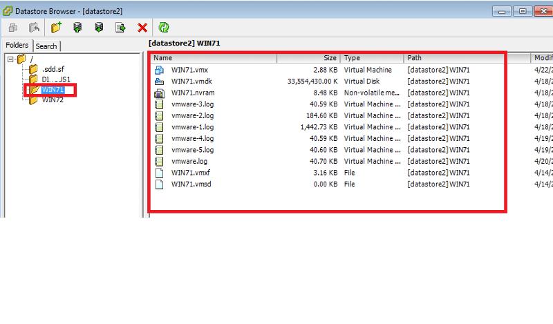 vmx and vmdk files