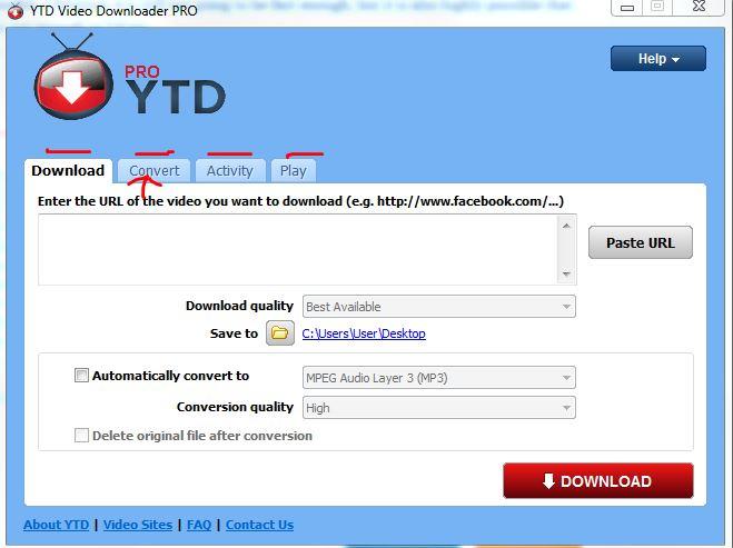 YTD pro conversion tab