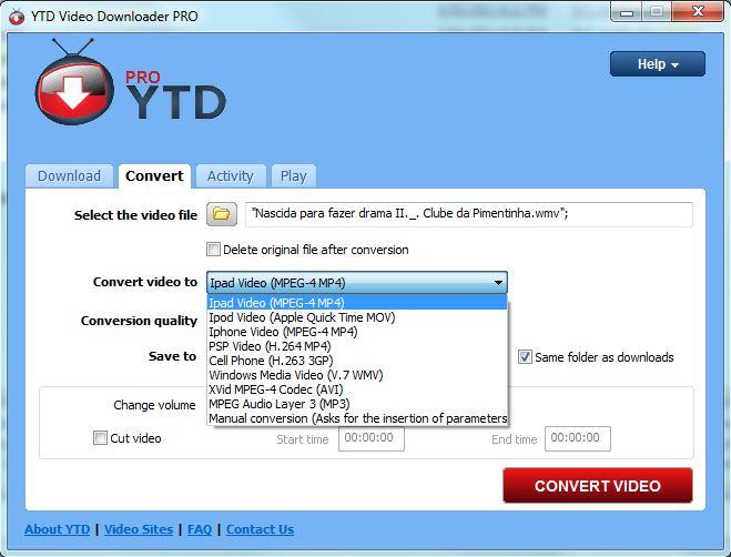 WMV to MP4 YTD Pro