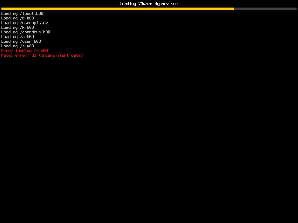 error loading sv00 fata error 33 data in the