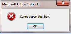 Cannot open