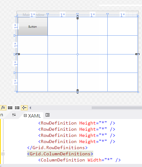 Button stretched in grid