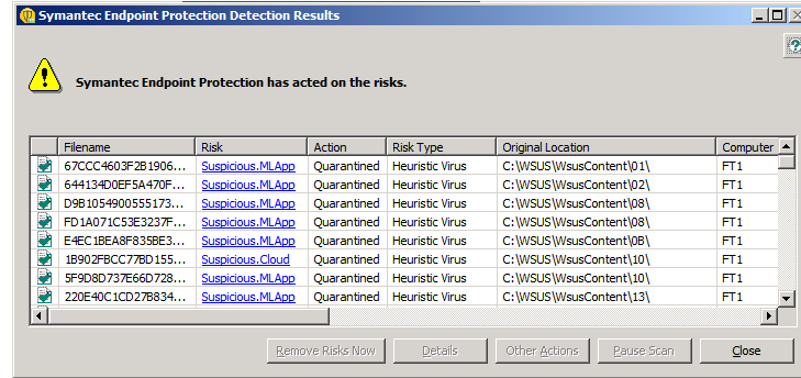 Symantec Real Time Protection