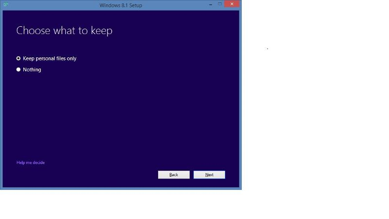 Windows 8.1 CD setup