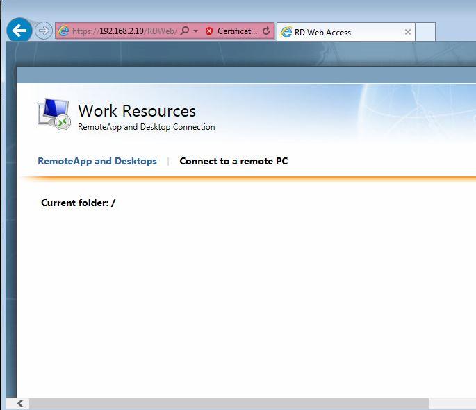 Server 2012 RemoteApp Configuration