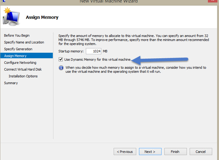 Assign starting memory and use dynamic or set the starting memory to the MAX Memory for the VM