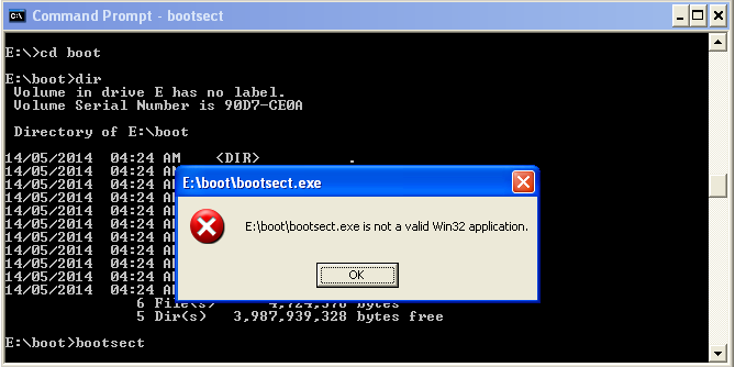 BOOTSECT.EXE on XP
