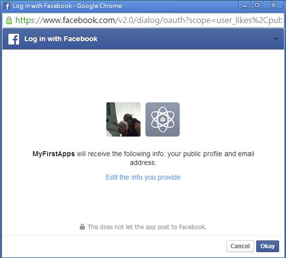 facebook api login permission scope : user_likes