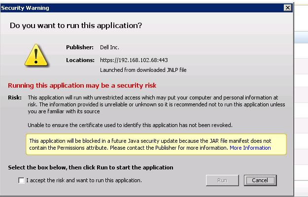 SOLUTION] problem launching dell DRAC in IE 10 and firefox