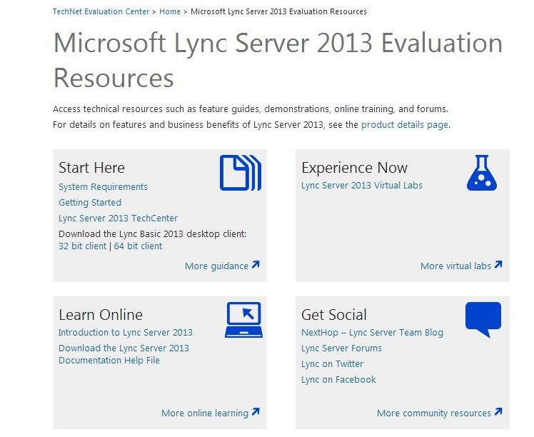 SOLUTION] Download Microsoft Lync Server 2013 Evaluation