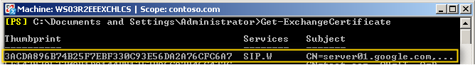 Exchange 2007  after service enabled
