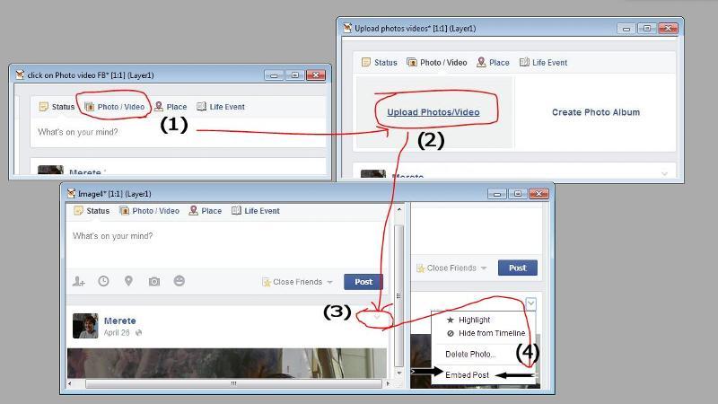 3 steps in facebook