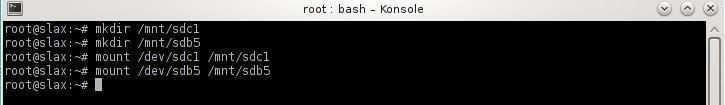 terminal mount commands