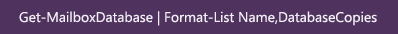 Format List Database Copies