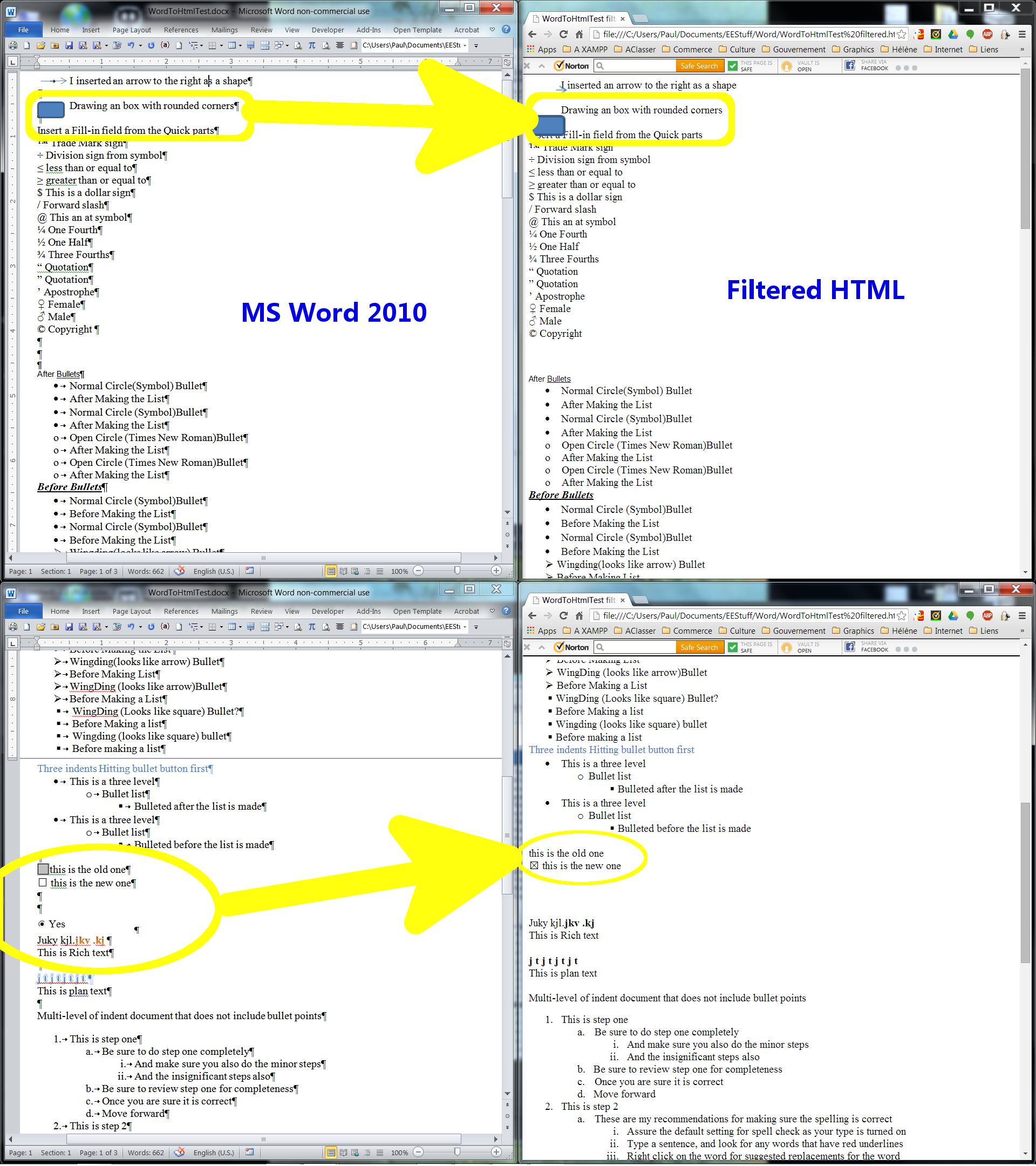Converting Ms Word Doc To Html Without Destroying Styles And Formats