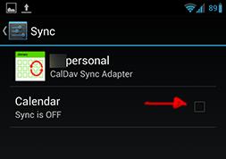 Enable calendar sync