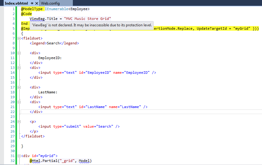 missing ViewBag reference in ASP NET MVC project
