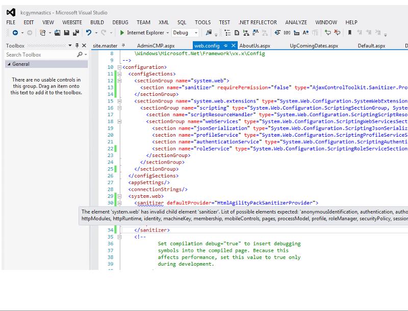 web.config error