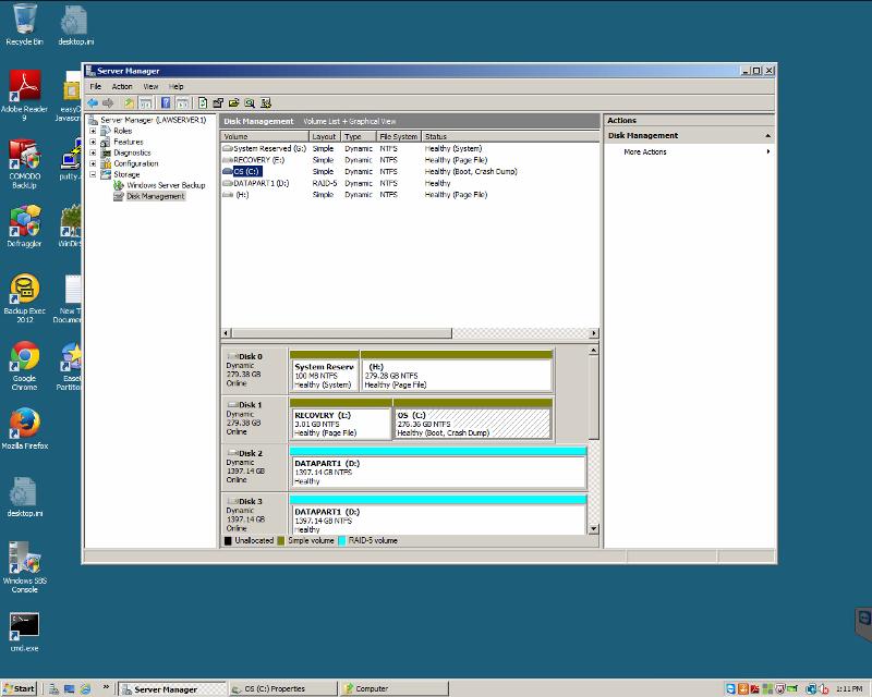 Servers disk managemtn snap in