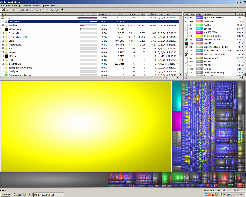 Second Windirstat Screen