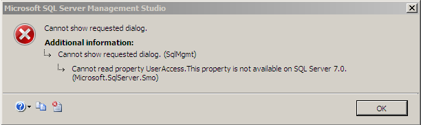 Properties error