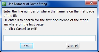 line number of name string