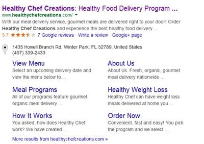 healthy chef full listing