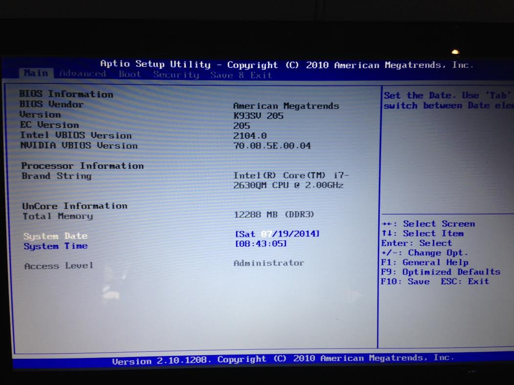asus bios boot images