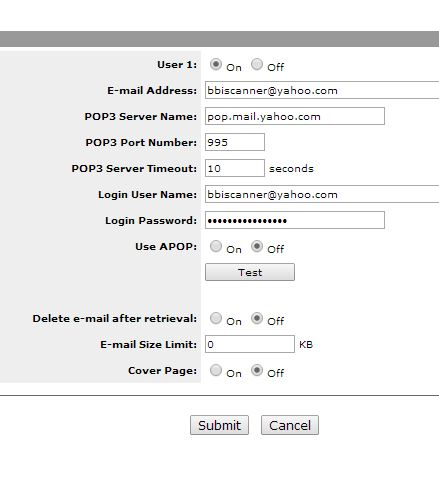 Configuring Kyocera KM-3050 Scan to Email POP/SMTP