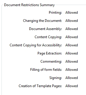 Foxit Document Restrictions