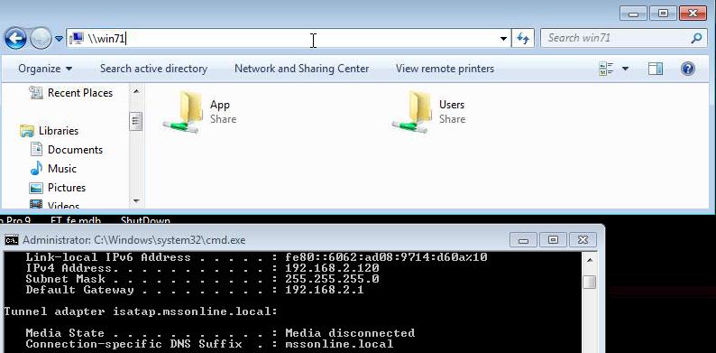 Shared Folder and IP Address