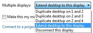 multiple displays - extended desktop