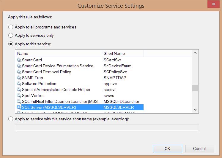 MSSQL service