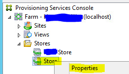 Attempting to modify properties of store