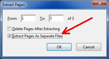 Extract Pages as Separate Files
