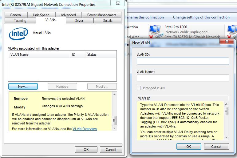 Intel NIC/VLANs