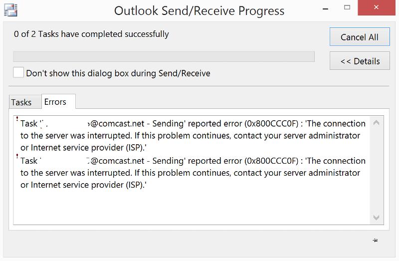 send error