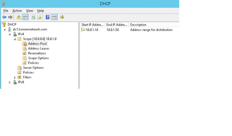 DHCP Server in DC1
